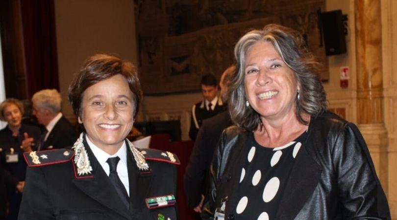 Luciana d'Ambrosio Marri con Rosa Patrone, Generale dei Carabinieri