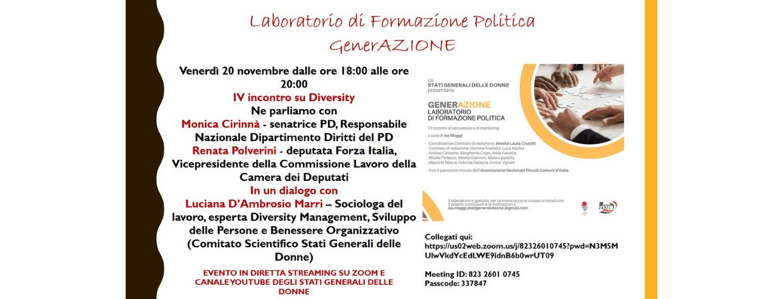 Intervista doppia sul tema Diversity di Luciana d'Ambrosio Marri a Monica Cirinnà e Renata Polverini